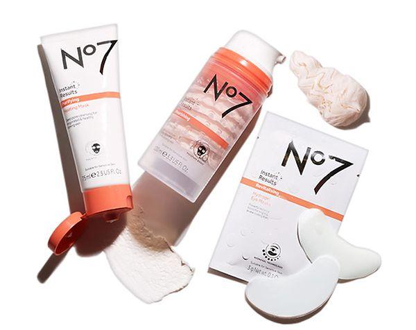 3 for 2. on selected No7 Instant Results masks range