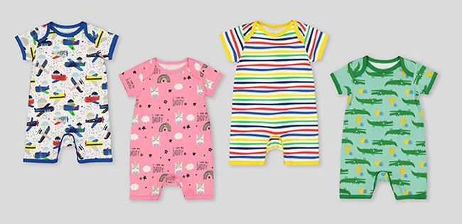 Boots Mini Club Babygro Dinosaurs 0-3m Clearance Price One-pieces