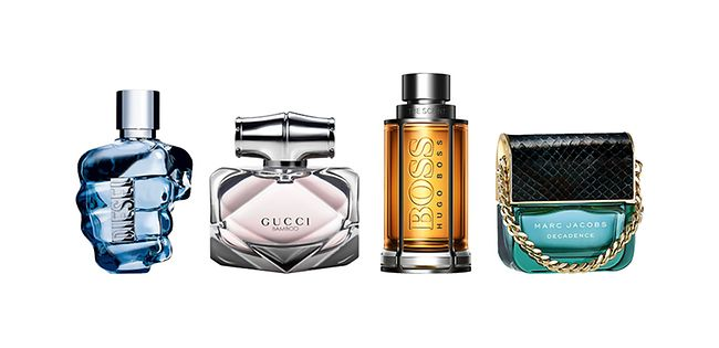 Four selected fragrances