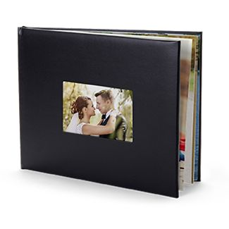 Newly married couple on photo book