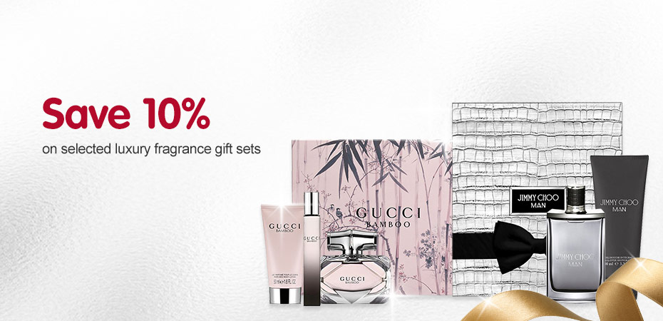 Save 10% on selected luxury fragrance sets