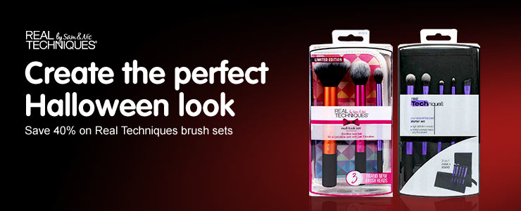 Save 40 percent on selected Real Techniques Brush Sets