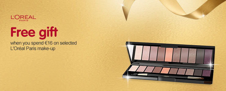 Free gift when you spend #8364;16 on selected L'Oreal