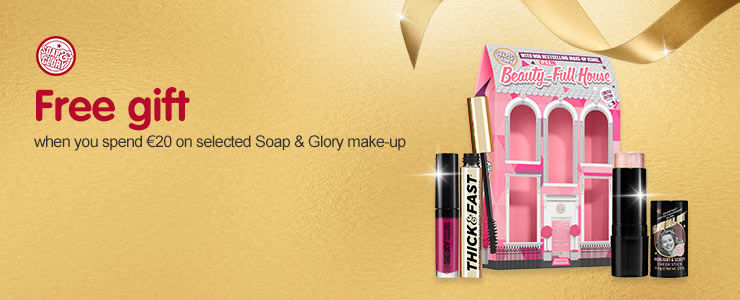 Free gift when you spend &#8364#20 on selected Soap and Glory
