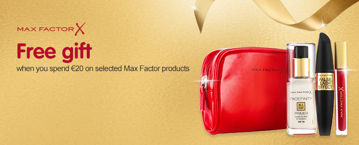 Free gift when you spend &#8364#20 on selected Max Factor