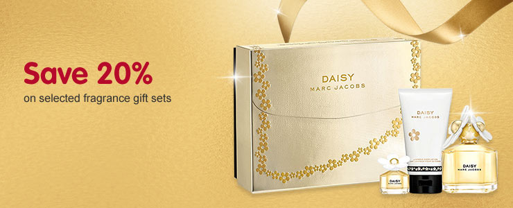 Save 20% on selected fragrance gift sets