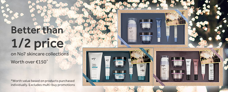 Better than half price on No7 skincare collections