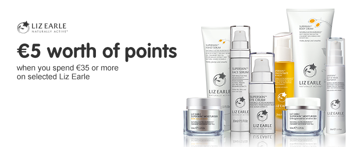 500 points when you spend 35 euros or more on selected Liz Earle