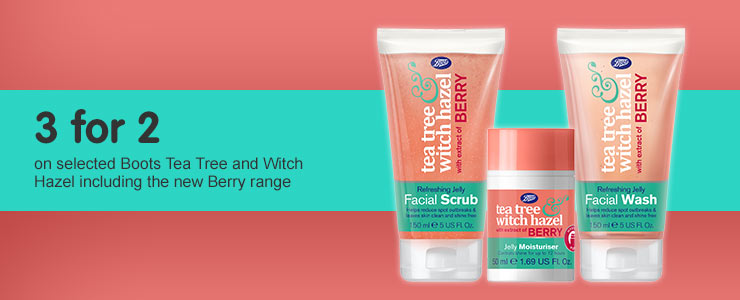 Boots Tea Tree and Witch Hazel with Berry Extract
