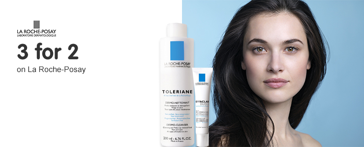 Three for two on selected La Roche Posay