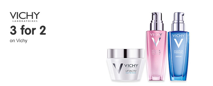 3 for 2 on selected Vichy