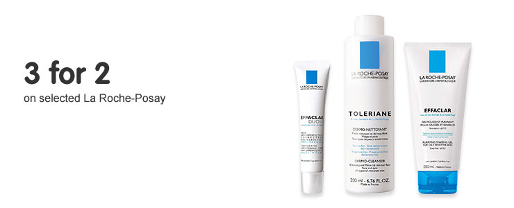 3 for 2 on selected La Roche-Posay
