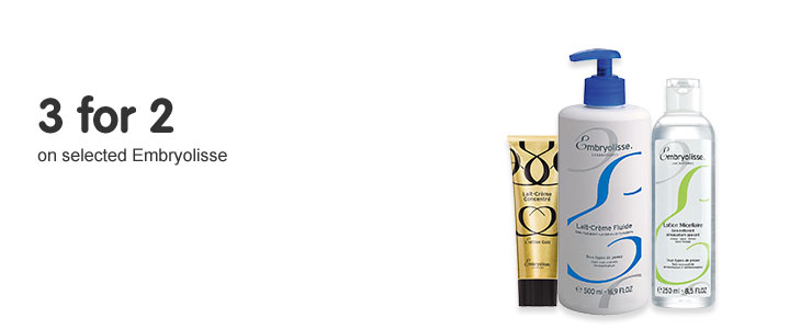 3 for 2 on selected Embryolisse