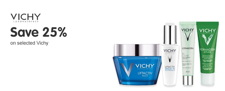 Save 25% on selected Vichy