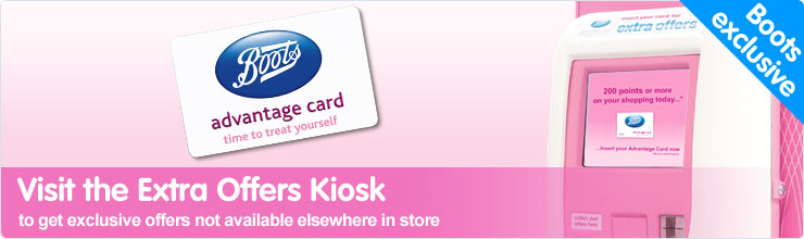Visit our Extra Offers Kiosks in store