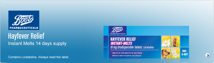 Boots Pharmaceuticals Hayfever Relief Instant Melts 7 days supply