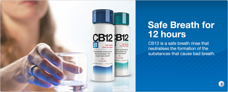 Safe breath for 12 hours. CB12 is a safe breath rinse that neutralises the formation of the substances that cause bad breath