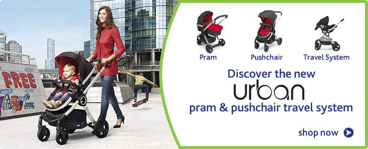 Discover the new Chicco Urban pram and pushchair travel system. Shop now.