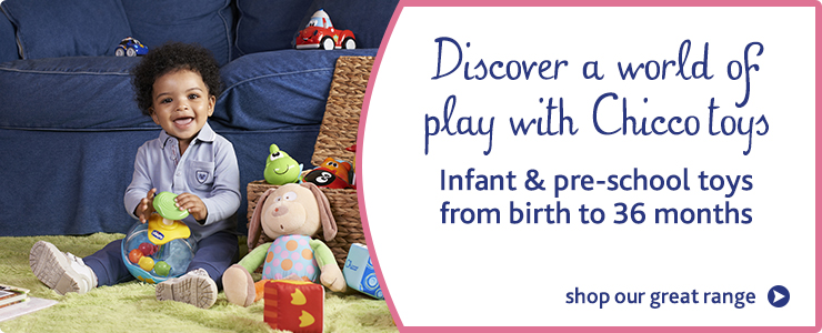 Discover a world of play with Chicco toys. Infant and preschool toys from birth to 36 months.
