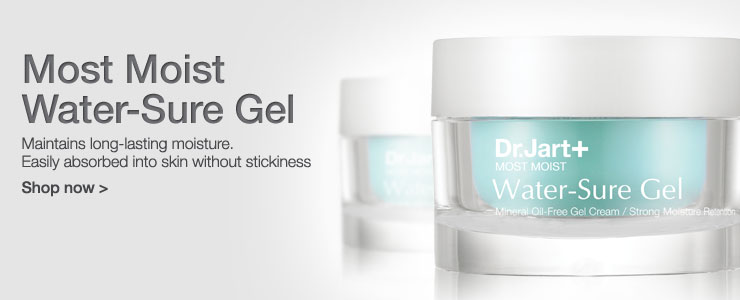 Dr Jart most moist water sure gel. Maintains long lasting moisture. Easily absorbed into skin with out stickiness.