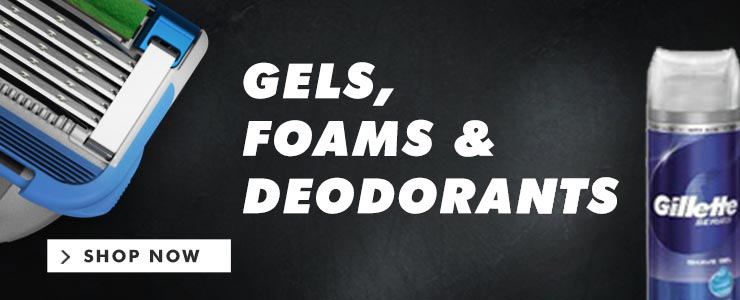 Gillette Gels, Foams & Deodorants
