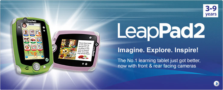 Leappad 2 - The number one learning tablet just got better, now with front and rear facing cameras