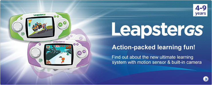 Leapster GS - Find out about the new ultimate learning system with motion sensor & built-in camera