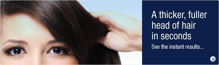 Nanogen a thicker looking head of hair in seconds