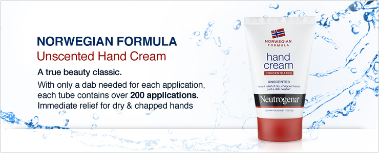 Neutrogena Norwegian Formula Unscented Hand Cream. A true beauty classic with only a dab needed for each application. Each tube contains over two hundred applications. Immidiate relief for dry chapped hands