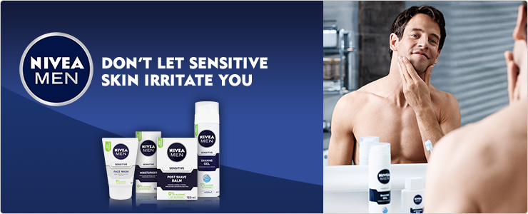 NIVEA MEN - Don't let sensitive skin irritate you