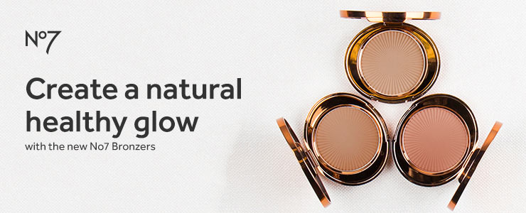 Create a natural healthy glow with Number Seven Match Made Bronzers