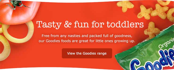 Organix Goodies. Tasty and fun food for toddlers