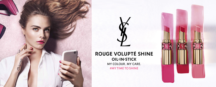 New Yves Saint Laurent Rouge Volupte Shine Lipstick shades
