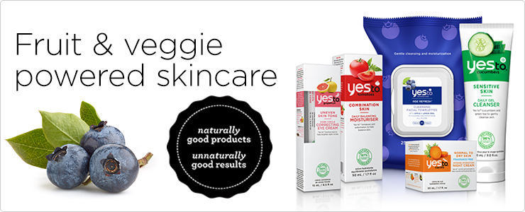 Fruit and veggie powered skin care. Naturally good products. Unnaturally good results