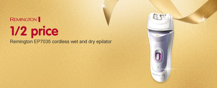 1/2 price on Remington EP7035 corless epilator