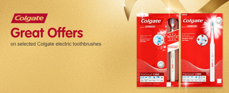 Great Offers on selected Colgate electric toothbrushes