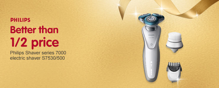 Better than 1/2 price Philips Shaver series 7000 electric shaver S7530/50