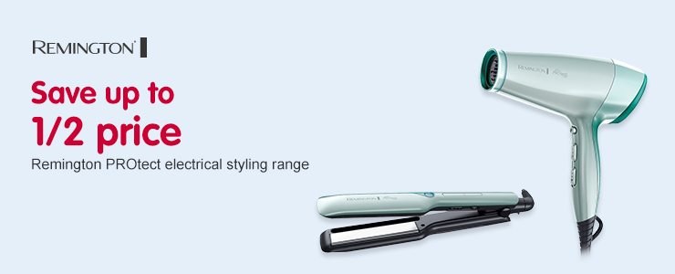 Save up to 1/2 price on Remington PROtect styling range