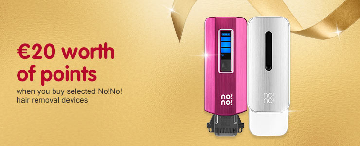 20 euros worth of points when you buy selected No!No! hair removal devices