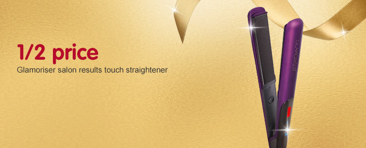 1/2 Price Glamoriser salon results touch straightener