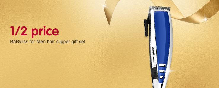1/2 Price BaByliss for Men hair clipper gift set