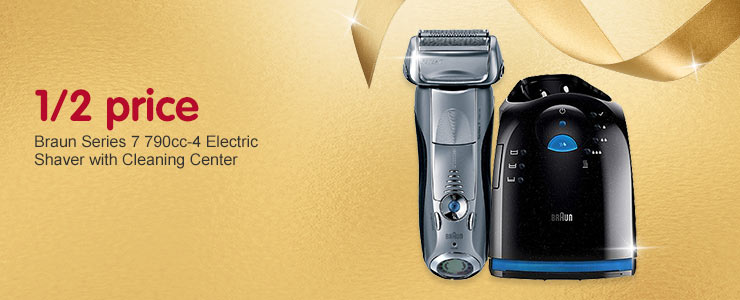 1/2 Price Braun Series 7 790cc-4 electric shaver with cleaning center