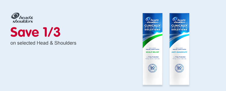 Save 1/3 on selected Head & Shoulders