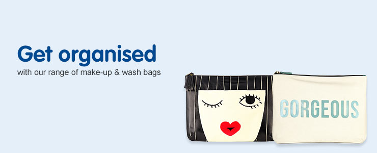 Get organised with our range of wash bags
