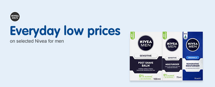 Everyday low prices on selected Nivea Men