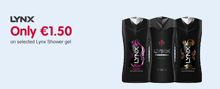 Only 1.50 Euros on selected Lynx shower gel