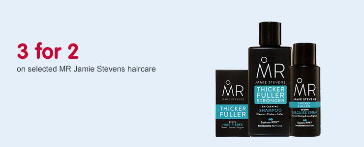 3 for 2 on selected MR Jaime Stevens Haircare