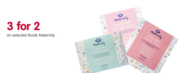 3 for 2 on selected boots materniny