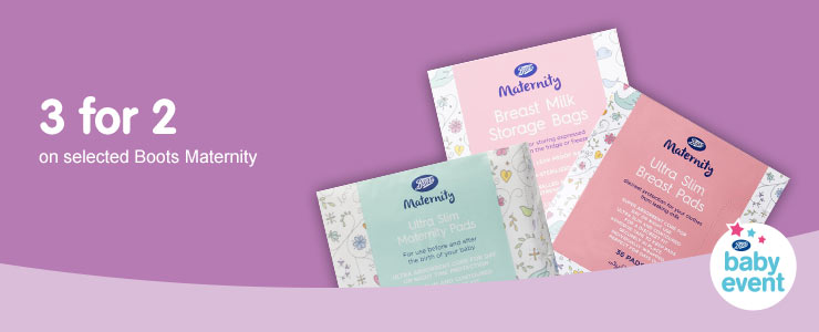 3 for 2 on selected Boots Maternity