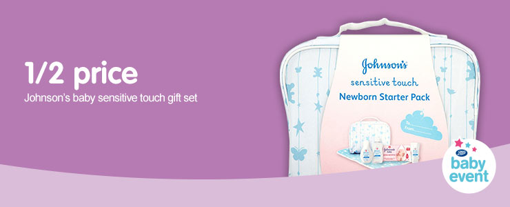 1/2 price on Johnson's Baby Sensitve Touch Gift Set